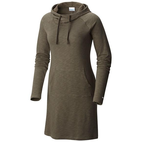 Columbia Dresses & Skirts - Columbia Cedar Lake Dress w/ Shawl Collar Hood